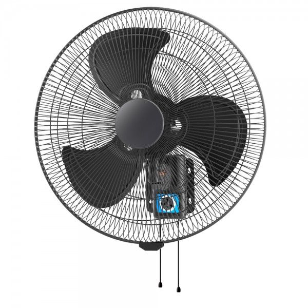 WALL 45 - 45cm Oscillating Wall Fan - Matte Black Grille and Blades