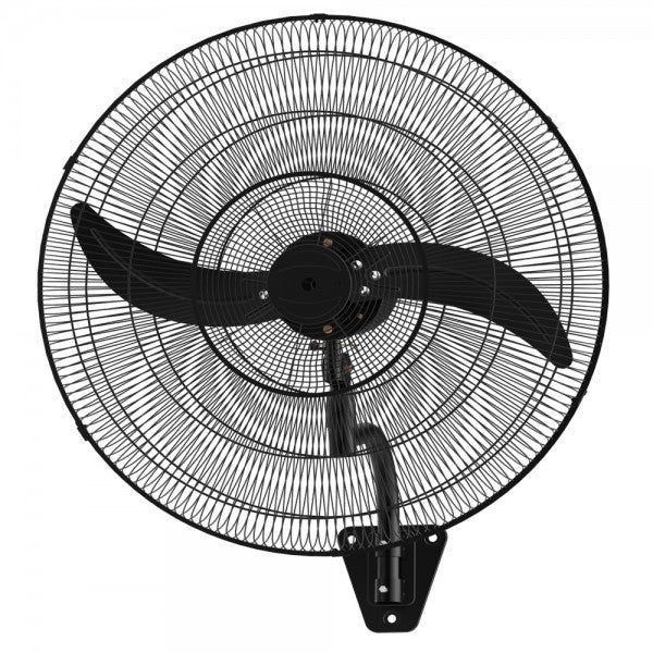 WALL 75 - 75cm Oscillating Wall Fan - Matte Black Grille and Blades