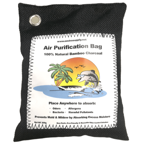 EnviroSupply Bamboo Charcoal Air Purifying Bag (200 Grams) - Black