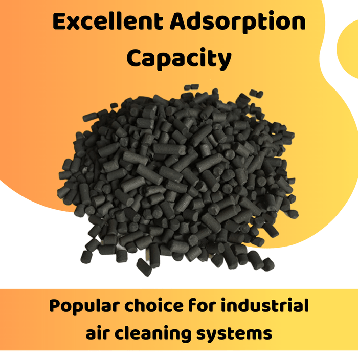 EnviroSupply & Service Carbon 4mm Pellet Activated Carbon - Virgin Coal Charcoal