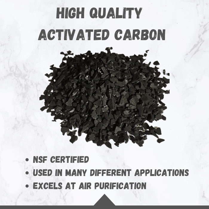 EnviroSupply & Service Carbon 4x8 Activated Carbon - Virgin Coconut Shell Charcoal