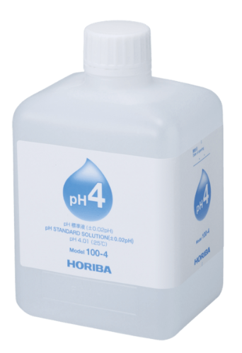 Horiba Solution pH 4 HORIBA LAQUATwin 500 mL pH Buffer Solution (pH 4, 7, 9)