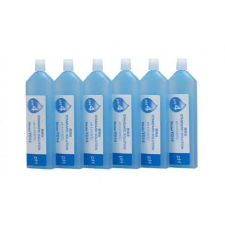 Horiba Solution Standard pH 4  (514-4) Calibration Solutions (pH 4.01 at 25 ° C) LAQUATwin - 6-Pack 14 mL Bottles - 3999960108