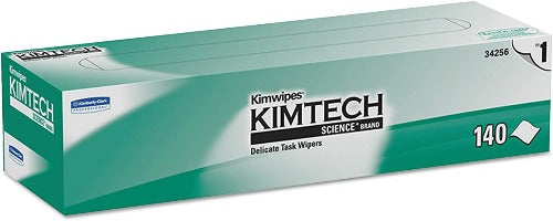 "Kimtech Safety KIMTECH SCIENCE - KIMWIPES Delicate Task Disinfectant Wipes, Wiper Size is 14.7"" x 16.6"", 140 units Per Box [ONLY 3 LEFT]"