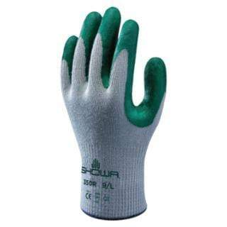 ORS Nasco Gloves SHOWA Atlas Fit 350 Nitrile-Coated Gloves, Gray/Green (12 Per Pack)