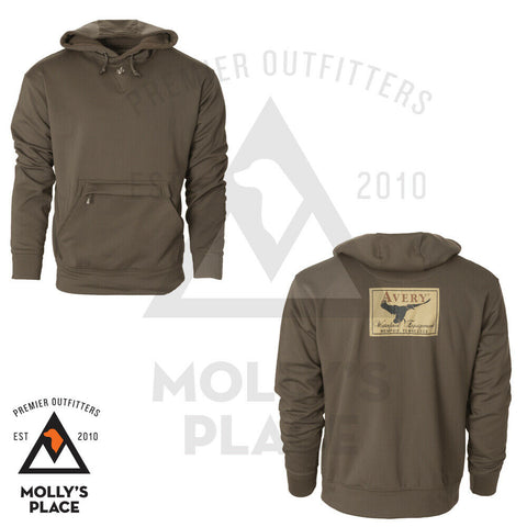 Mens Avery Hoodie Marsh Brown