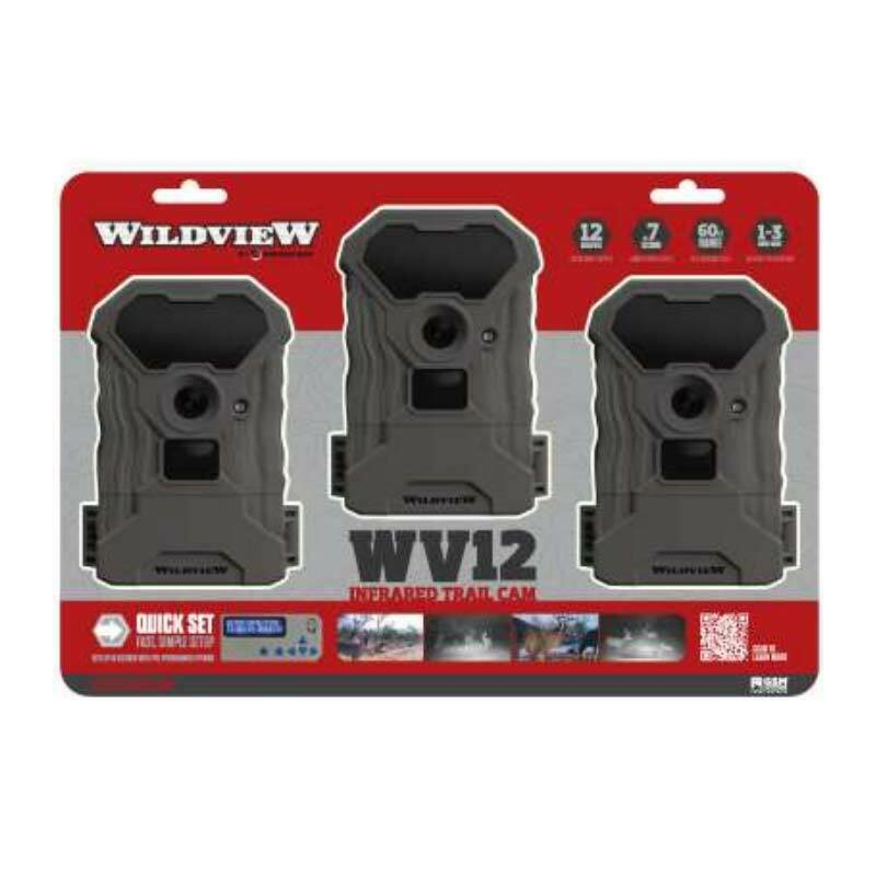 Wildview by Stealth Cam WV12 Infrared 12MP Trail Camera - 3 Pack