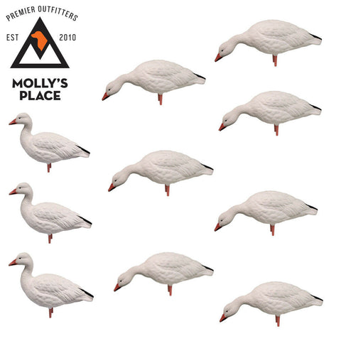 Avian-X 9060, SPO Adult Snow Geese Decoys 10 Pack