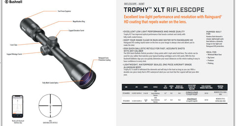 Bushnell RT4124BS11, Trophy XLT 4-12x40