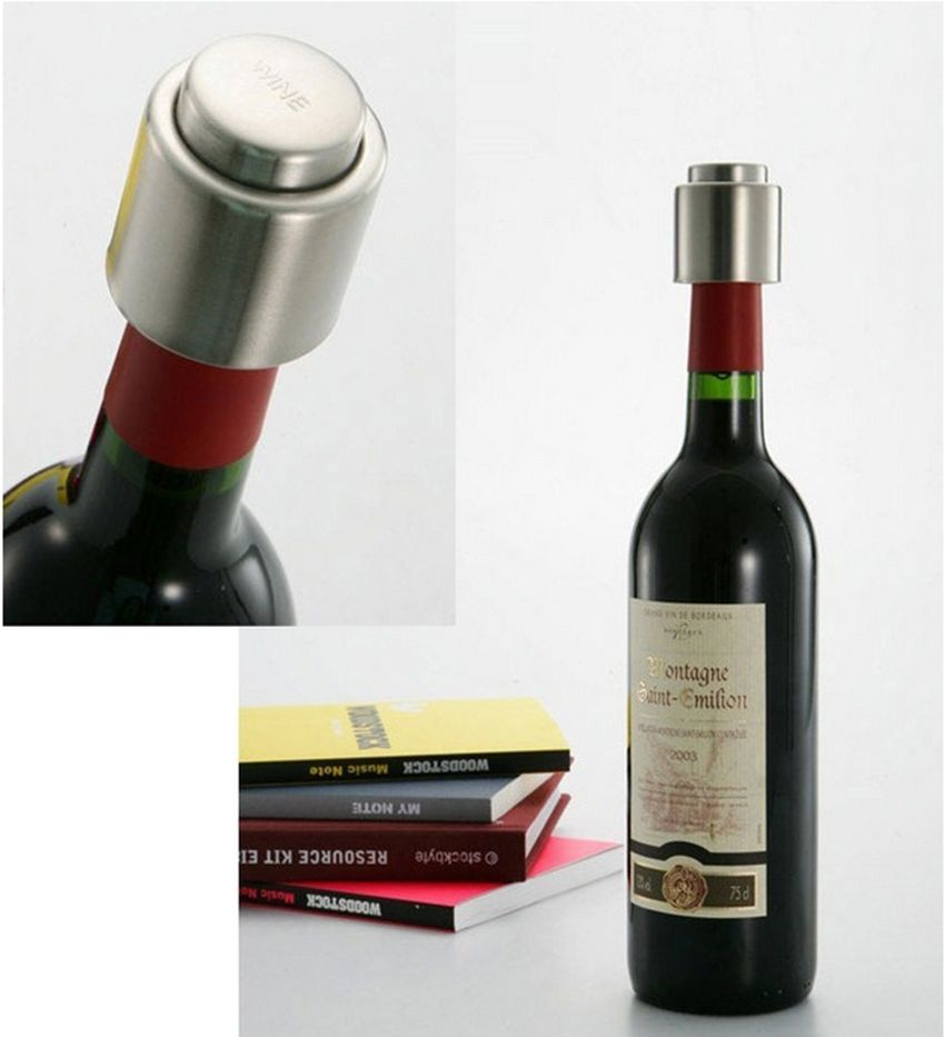 Elegant Stainless Steel Wine Stopper
