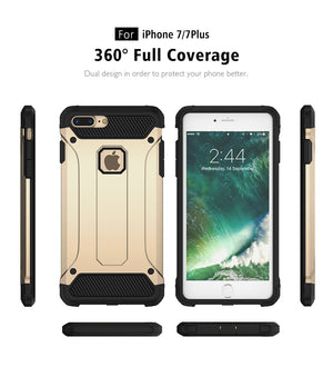 Heavy Duty Armor Case For iPhone X, iPhone 8 Plus, iPhone 8, iPhone 7 Plus, iPhone 7
