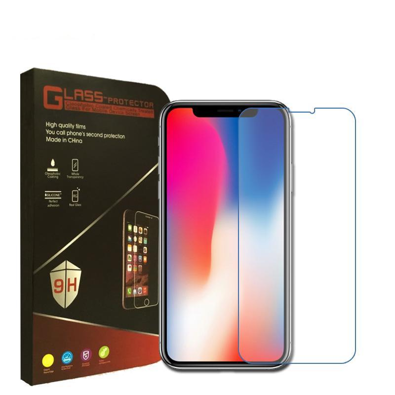 High Quality Tempered Glass Screen Protector For iPhone X, 8 Plus, 8, 7 Plus, 7, 6s Plus, 6s, 6