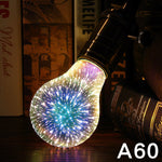 3D firework light bulb lamp