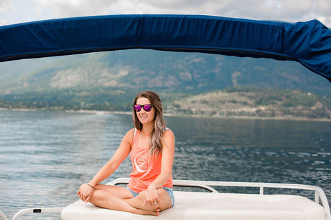 Shuswap Sunrise Ladies Flowy Tank (SALE)