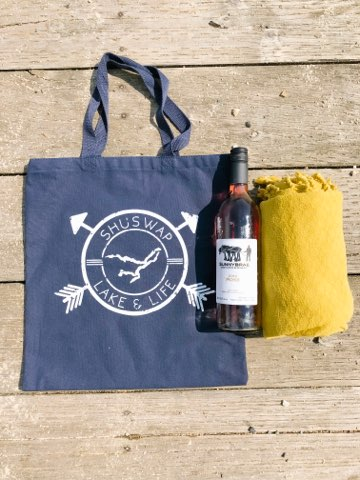 Shuswap Badge Canvas Tote