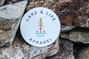 Lake & Life Apparel Custom Logo Sticker (New!)
