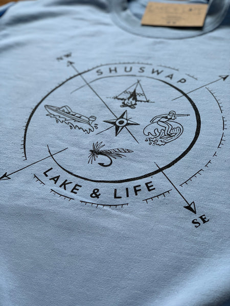 Shuswap Summer Compass Unisex Crew (NEW!)