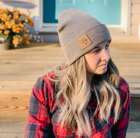 Shuswap Winter Compass Cuffed Knit Beanie