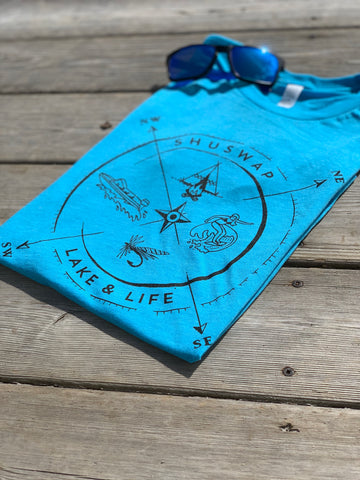 Shuswap Summer Compass Unisex T-Shirt (NEW!)