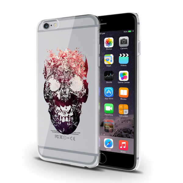 Skull Botanical Clear Case for iPhone 6/6S