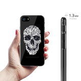Skull Doodle Clear Case for iPhone 7/8