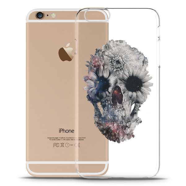 Skull Floral Clear Case for iPhone 6/6S Plus