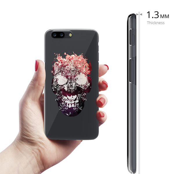 Skull Botanical Clear Case for OnePlus 5
