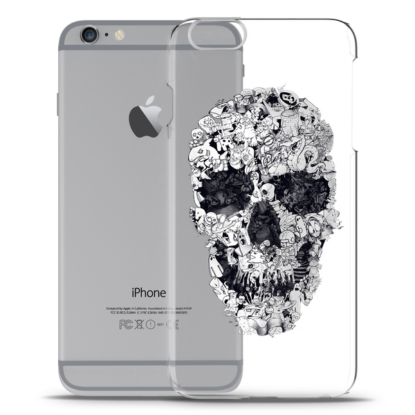 Skull Doodle Clear Case for iPhone 6/6S
