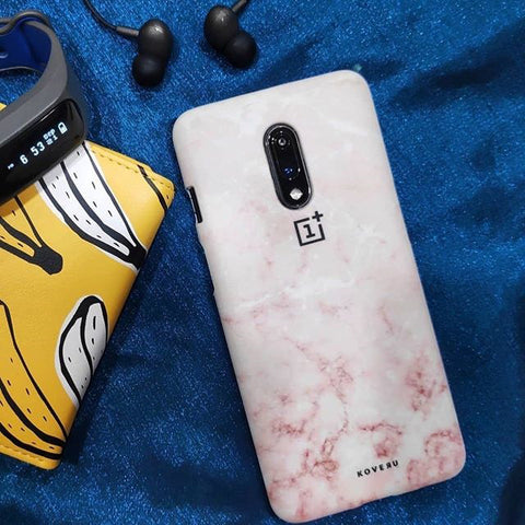 Baby Pink Marble Cover Case for OnePlus 7