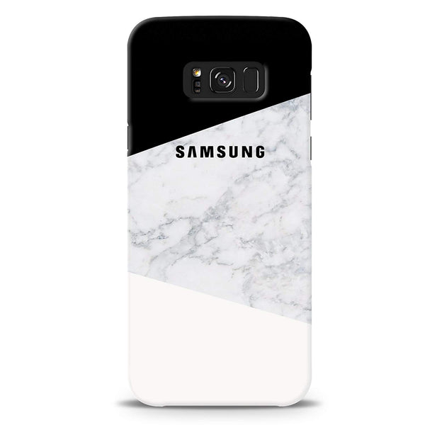 Geometric White Marble Cover Case For Samsung Galaxy S8
