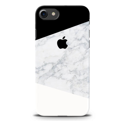 Geometric White Marble Cover Case For iPhone 7/8