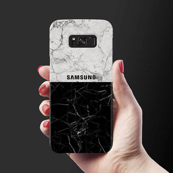 Grey & Black Marble Cover Case For Samsung Galaxy S8 Plus