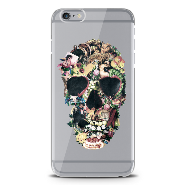 Skull Vintage Clear Case for iPhone 6/6S