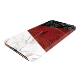 Red Geometric Marble Cover Case For Nokia 7 Plus