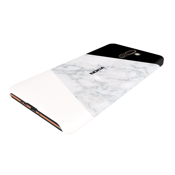Geometric White Marble Cover Case For Nokia 7 Plus