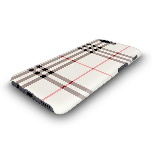 Brown Check Design Cover Case For OnePlus 5