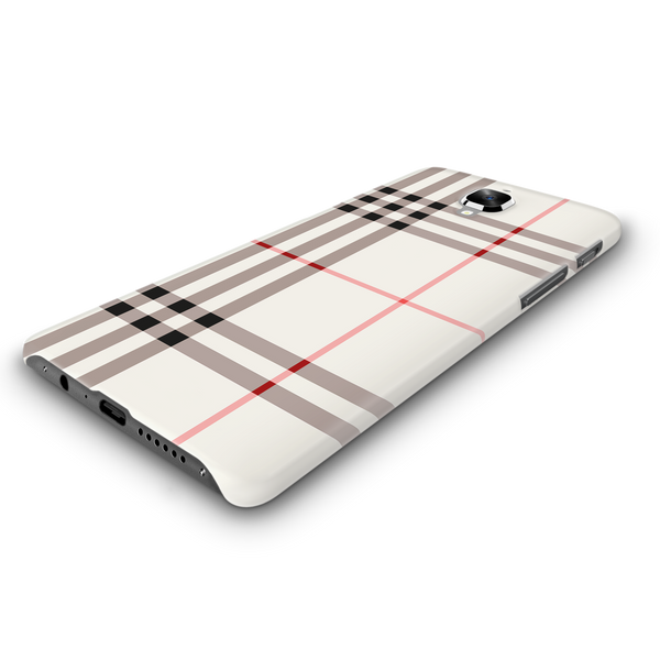 Brown Check Design Cover Case For OnePlus 3/3T