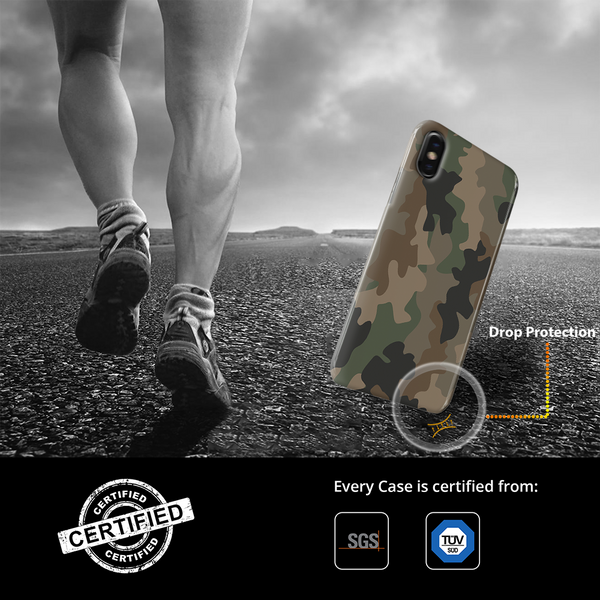 Army Abstract Camouflage Cover Case For iPhone X