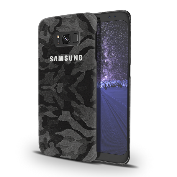 Black Patterned Camouflage Cover Case For Samsung Galaxy S8 Plus