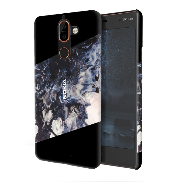 Black Splash Cover Case For Nokia 7 Plus
