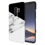 Geometric White Marble Textured Cover Case For Samsung Galaxy S9 Plus