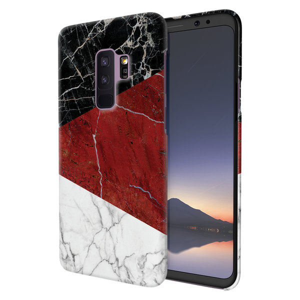 Red Geometric Marble Cover Case For Samsung  Galaxy S9 Plus