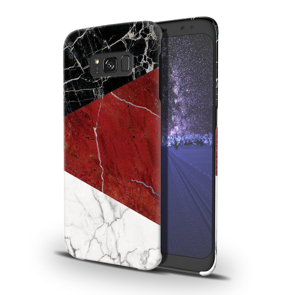 Red Geometric Marble Cover Case For Samsung  Galaxy S8