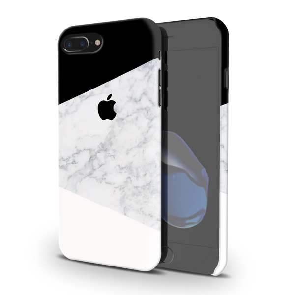 Geometric White Marble Cover Case For iPhone 7/8 Plus