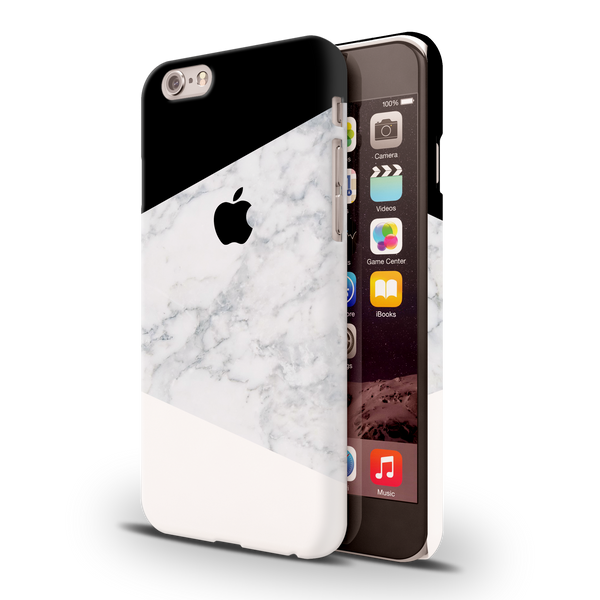 Geometric White Marble Cover Case For iPhone 6/6S
