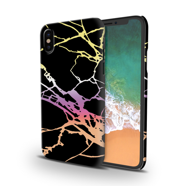 Dramatic black Marble Cover Case For iPhone X