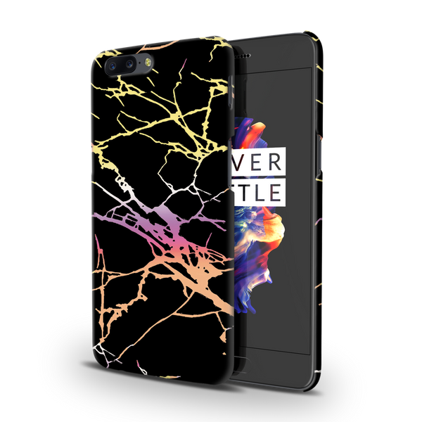 Dramatic black Marble Cover Case For OnePlus 5