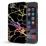Dramatic black Marble Cover Case For iPhone 6/6S Plus