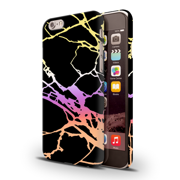 Dramatic black Marble Cover Case For iPhone 6/6S
