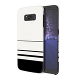 White Horizon Stripes Cover Case For Samsung Galaxy S8
